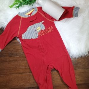 🌿5$25 Carter's Red Car Footie Pajama   sz 12m